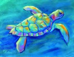 turtles painting paintings by theresa paden colorful contemporary sea