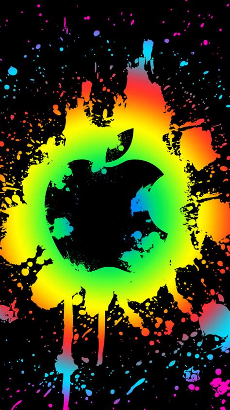 wallpaper colorful apple colorful apple splatter logo 123mobilewallpapers com