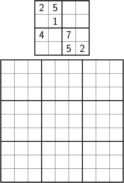 tables how do i create a shidoku grid tex latex