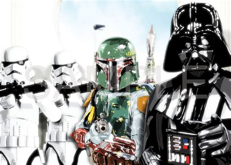 Poster A3 Wars Trooper wars trooper boba fett a3 poster hal580 ebay