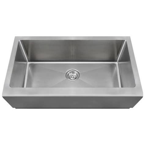 Stainless Steel Apron Front Kitchen Sink Mr Direct Farmhouse Apron Front Stainless Steel 33 In Single Basin Kitchen Sink 405 The Home