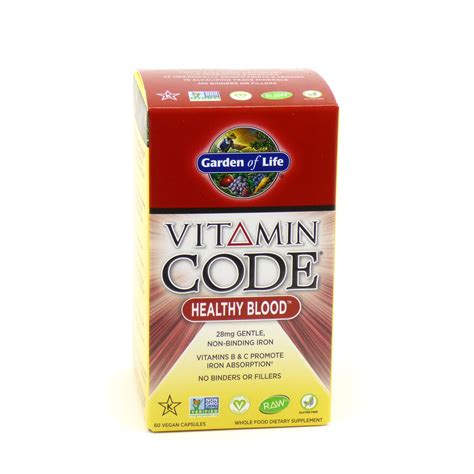 Garden Of Healthy Blood Healthy Blood Vitamin Code By Garden Of 60 Capsules