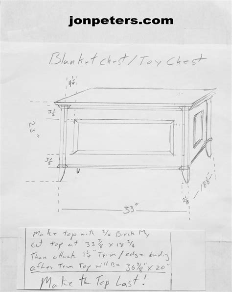 jon peters woodworking blanket chest drawing jon peters home