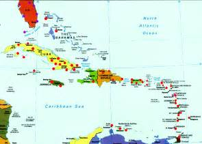 Caribbean map map of the caribbean islands and the bahamas