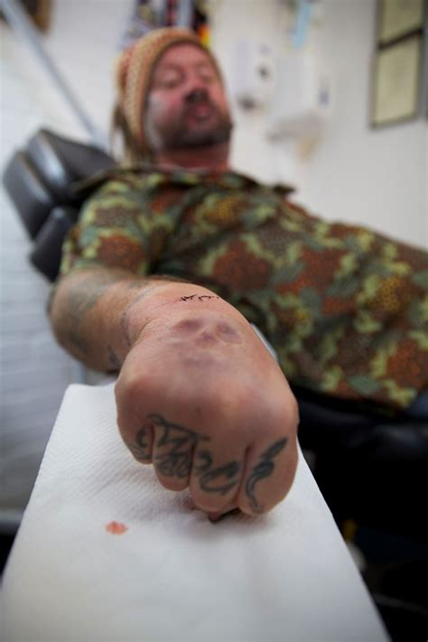 elephant tattoo bodyshockers see tattoo addict have skull implanted into his hand