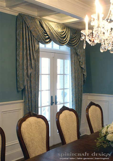 draperies and interiors custom window treatments drapery valance swags in