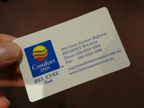 comfort inn card business card picture of comfort inn bel eyre perth