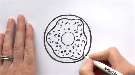 How To Draw A Donut With Sprinkles how to draw a iced donut with sprinkles