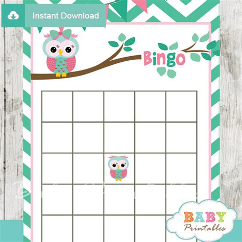 printable owl games mint green pink owl baby shower games d126 baby