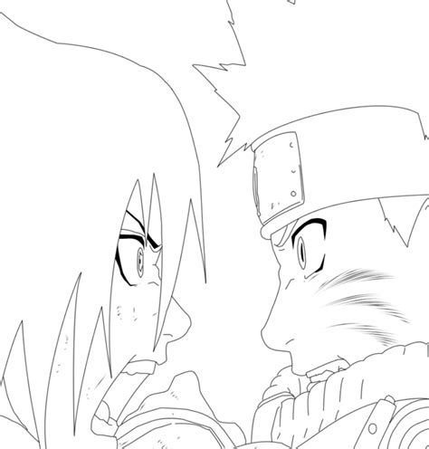 naruto and sasuke lineart by kryptonstudio on deviantart naruto vs sasuke lineart by robcv on deviantart