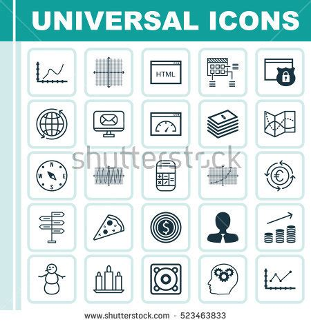 are design elements universal set 20 universal editable icons can stock vector 507238714