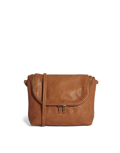Pullbear Bag lyst pull cross bag in in brown