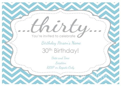 30th birthday card template free printable 30th birthday invitations new