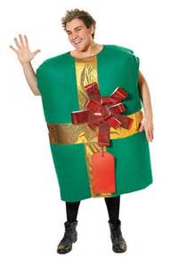 Christmas present costume male at fancy dress and party
