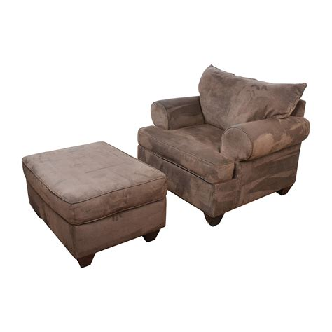 ottoman sofa 67 off dark brown sofa chair with ottoman chairs
