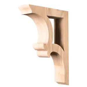Bar Supports Wood Bar Bracket Carved Corv