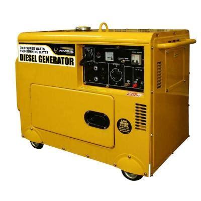 pro series silent diesel generator gensd7 7 kw 69 db