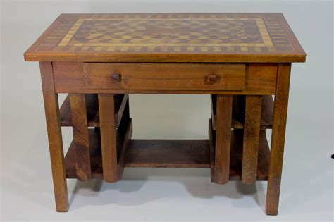 early 20th c arts and crafts stickley mission style desk