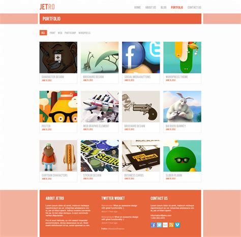 portfolio templates for photoshop free jetro psd responsive html template free download