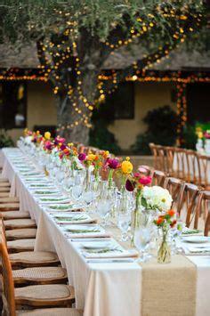 wildflower wedding  multiple vase center pieces