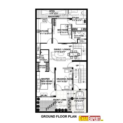 50 square yard home design house plan for 30 feet by 60 feet plot plot size 200
