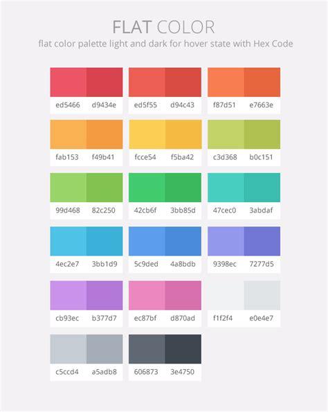 flat color palette flat color palette deeziner