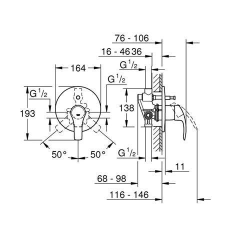 montaggio miscelatore doccia incasso grohe miscelatore doccia incasso con deviatore eurosmart
