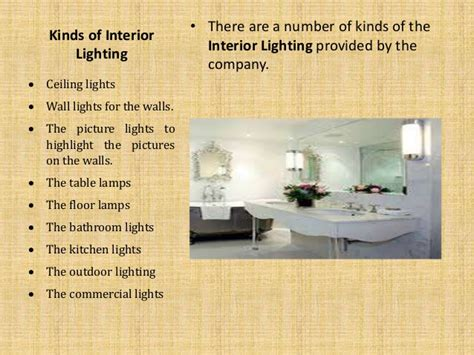 about interior lighting and its types