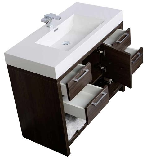 bathroom vanity 40 40 quot modern bathroom vanity set with grey oak finish tn