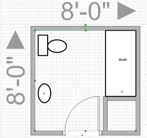 bathroom layout can i push out my wall to get an 8x8 bathroom leave me