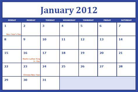 January 2012 Calendar Best Photos Of Blank January 2012 Calendar Blank January