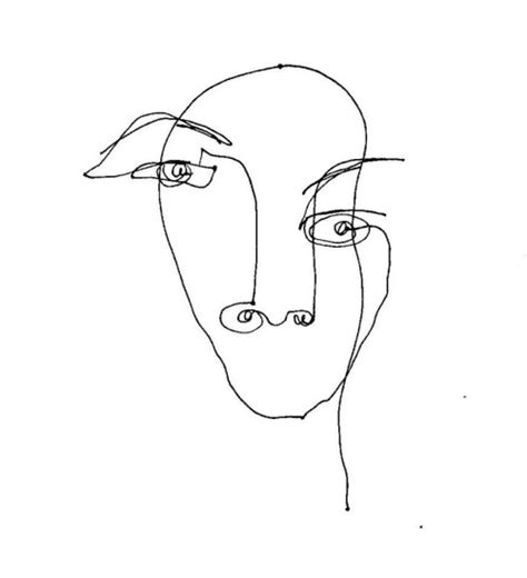 Drawing 7 Lines by Continuous Line Drawings
