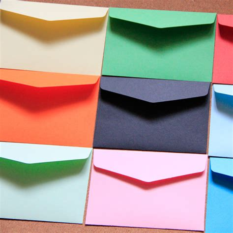 colored envelopes colored envelopes 11x8cm 13 color paper envelope 100pcs