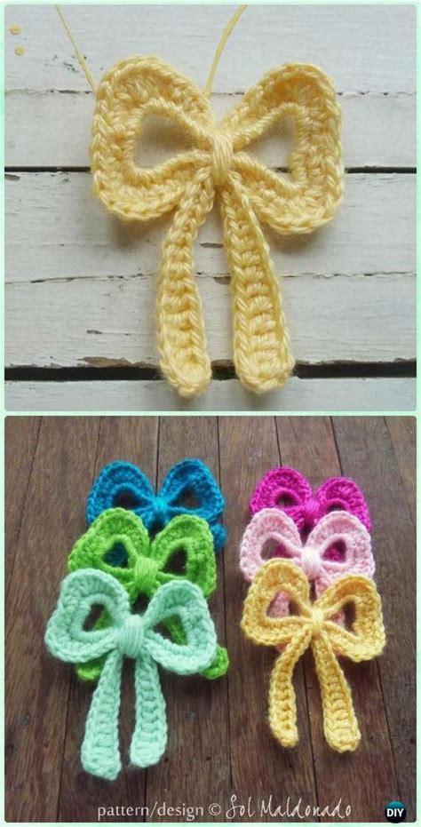 pattern crochet ribbon crochet ribbon bow applique pattern crochet bow free