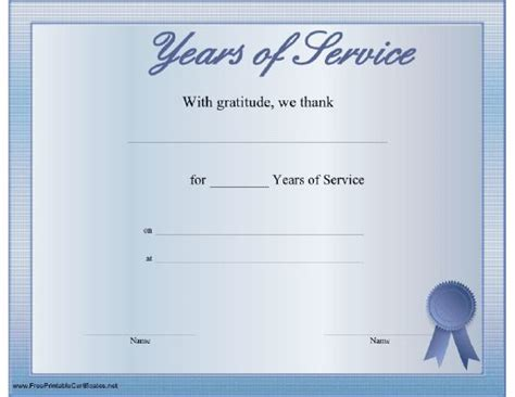 certificate for years of service template the world s catalog of ideas