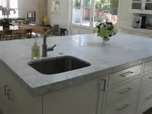 thick granite or marble countertops