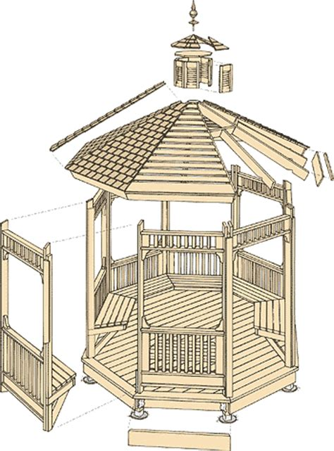 gazebo floor plans 10 x 10 square gazebo plans pictures to pin on pinterest