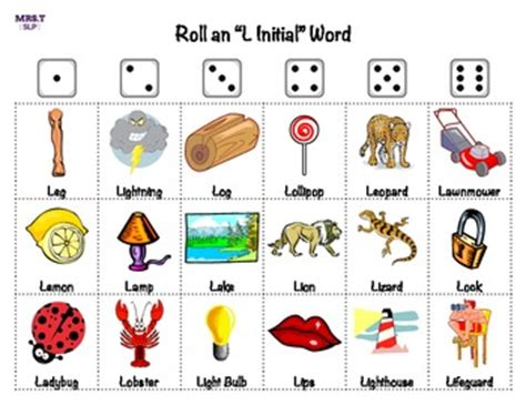 Word For L by Quot L Quot Sound Roll A Dice Free By Mrstslp Teachers Pay Teachers