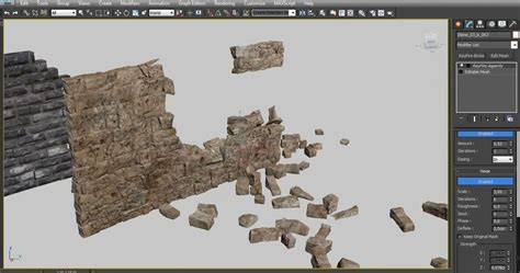 create wall using rayfire bricks modifier in 3ds max