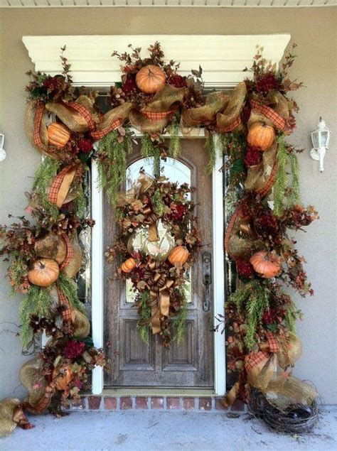 diy fall spruce up of your front door with color diy 67 cute and inviting fall front door d 233 cor ideas digsdigs