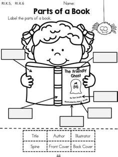 components of a book report parts of a book worksheets students and books