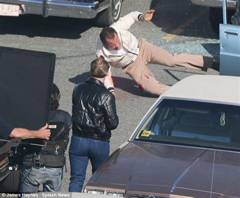 gangster movie in boston johnny depp kisses amber heard on black mass set for james