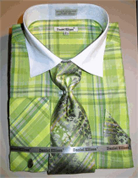 pattern matching in french daniel ellissa ds3772p2 green men s french cuff dress