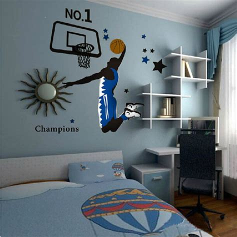 sports home decor wall stickers for boys bedrooms peenmedia com
