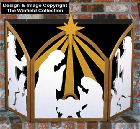 nativities amp angels nativity fireplace screen woodcraft