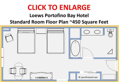 typical hotel room floor plan review standard rooms at loews portofino bay hotel