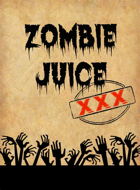 printable zombie labels halloween spooky potion bottle labels with free printables
