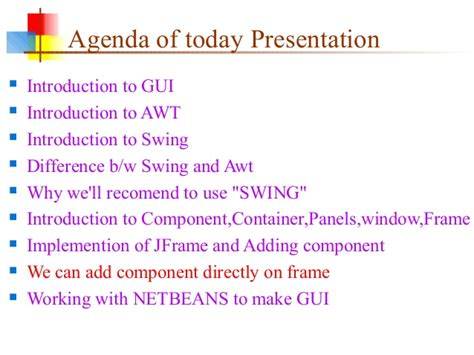 difference between awt and swing in java swing and awt in java