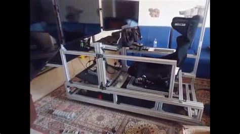 costruire volante pc postazione di guida autocostruita dinamica diy simulatore