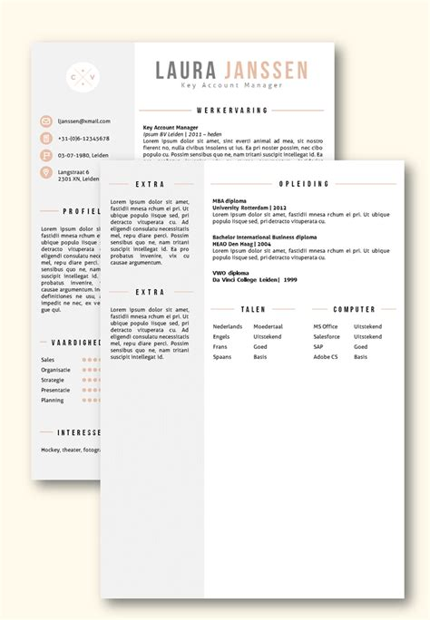 Curriculum Vitae Sjabloon Word 2010 cv sjabloon 25 cv sjabloon word